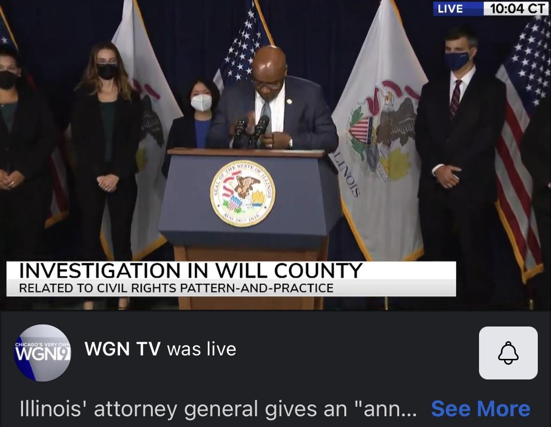 Illinois Attorney General Investigation in Will County